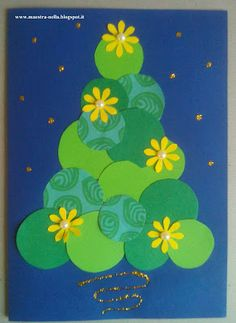 maestra Nella: biglietti di Natale Christmas Card Crafts, Xmas Cards, Christmas Projects, Holiday Crafts, Christmas Holidays, Christmas Decorations, Christmas Ornaments, Kids Crafts, Preschool Crafts