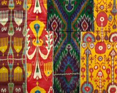 Ikat, detail. Central Asia, mid-19th century (c)Victoria and Albert Museum, London