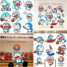 TOKYO 2020 Summer Olympics, using the famous anime character Doraemon as the mascot icon on all sporting events. The robo cat has been selected as  the Olympic's Special Ambassador.