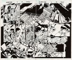 Comic Art For Sale from Fanfare, All-New X-Men Issue 4 Page 12-13 by Comic Artist(s) Stuart Immonen, Wade von Grawbadger