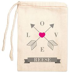Personalized Gift Bag: Love Straight & True Pink
