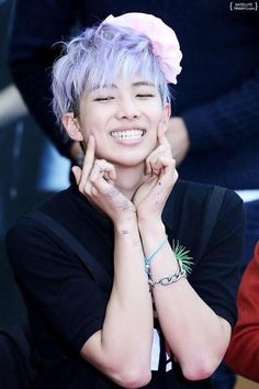 rap monster purple hair