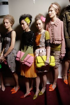 Moschino Cheap & Chic backstage S/S12