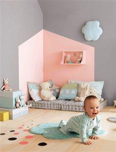Pastell in grau Kinderzimmer Babyzimmer dekorieren *** Pastel colors kids room baby room deco Baby Bedroom, Nursery Room, Girls Bedroom, Bedroom Wall, Nursery Decor, Nursery Ideas, Kids Bedroom Paint, Playroom Paint, Boy Room