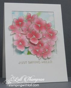 Pink Hydrangea by Loll Thompson - Cards and Paper Crafts at Splitcoaststampers