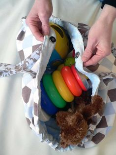 A playmat that draws up into a bag that you can carry the toys in...brilliant!