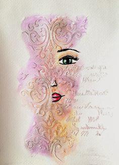 ART JOURNAL PAGE   SPEECHLESS   Nika In Wonderland Art Journaling and Mixed Media Tutorials