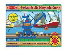 Swivel & Lift Magnetic Harborside Crane | New | Melissa and Doug