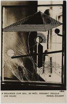 """Man Ray, postcard of Marcel Duchamp's """"To be looked at. Man Ray, Conceptual Art, Surreal Art, Marcel Duchamp Art, Art Visionnaire, Salvador Dali, Willem De Kooning, Cultural, Assemblage Art"""