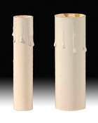 Chandelier Candle CoversIvory-Tinted Paper Board Candle Covers | Chandelier Supply.com