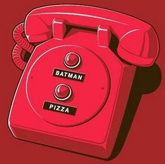 The only numbers you need. #batman #pizza Funny!! I need this one for Andrew! This would be cute to try to make by recycling an old rotary phone. Check out the yard sales.