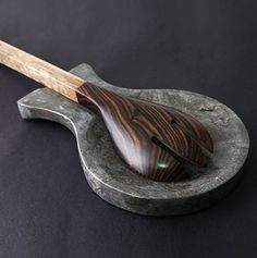 Gray Natural Marble Spoon Rest.   Spoon Rest are made of 100% genuine natural marble stone which provide premium quality, durability and functionality