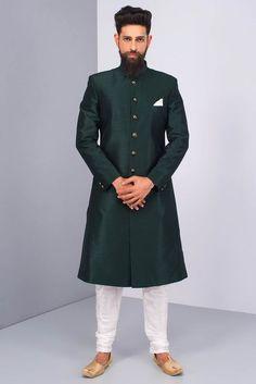 Mens Indian Wear, Mens Ethnic Wear, Indian Men Fashion, Mens Fashion Suits, Men's Fashion, Groom Fashion, Indian Suits, Indian Groom Dress, Wedding Dresses Men Indian