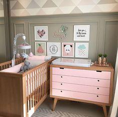 Baby room girl gold new ideas Baby Bedroom, Baby Boy Rooms, Baby Room Decor, Nursery Room, Girls Bedroom, Decoration Inspiration, Nursery Inspiration, Kids Room Design, Baby Furniture