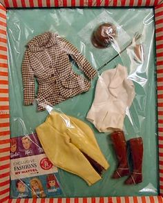 Vintage Barbie Riding In The Park Vintage Skipper Learning To Ride Play Barbie, Barbie Dream, Barbie And Ken, Vintage Barbie Clothes, Doll Clothes, Vintage Outfits, Vintage Dolls, Barbie Wardrobe, Barbie Outfits