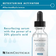 Exfoliation and hydration are key to a glowing complexion. Try Retexturing Activator, a deep hydrating serum with the resurfacing power of a 20% glycolic acid. #BackedByScience www.vitalitystudiosa.com