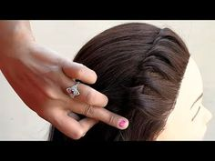 Party Hairstyles For Long Hair, Indian Party Hairstyles, Open Hairstyles, Easy Hairstyles For Medium Hair, My Hairstyle, Girl Hairstyles, Bridal Hairstyle, Braid Hairstyles, Front Hair Styles