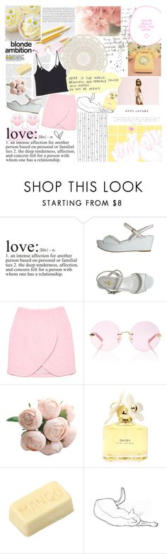 """""""all you have to do is stay"""" by shannonmarie-xo ❤ liked on Polyvore featuring WALL, Carshoe, Carven, Karen Walker, Nicole Miller and Marc Jacobs"""