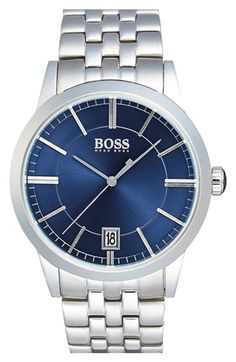 BOSS Sunray Dial Bracelet Watch, 42mm available at #Nordstrom
