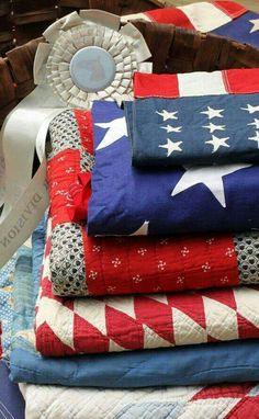 Red, white & blue quilts