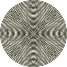 de bodem :grijze bloem heeft 224 steken