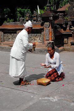Receiving holy water. Bali, Indonesia #rituals