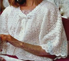 Elegant Bed Jacket crochet PDF pattern — download or e-mail — $5.00 ||| by Beate @ Patterns Tried and True