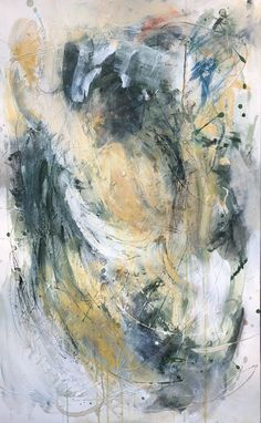 """White Narcissusis a 30""""w x 48""""h painting in acrylic on canvas. Visual And Performing Arts, Performance Art, Abstract Painting, Creative Artists, Prominent Artist, Art, Expressionist, Art History, Abstract Expressionist"""