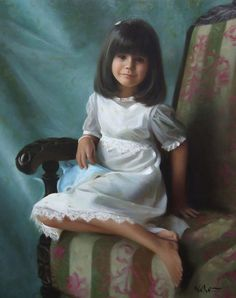Brian Neher is a talented portrait painter based in Charlotte, North Carolina. He captures not only the exact likeness of the children but also the unique expressions of children's eyes and their personalities on canvas.