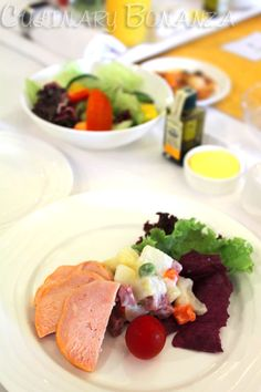 Chicken Cold cut and #salad for #starter on Emirates Airlines