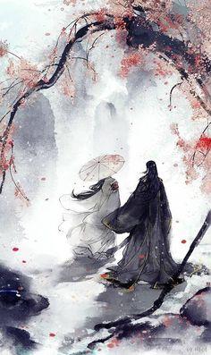 Cherry Tree Illustration Drawings Ideas For 2019 Fantasy Kunst, Fantasy Art, Japon Illustration, Tree Illustration, Botanical Illustration, Art Asiatique, Japanese Artwork, Samurai Art, Fantasy Landscape