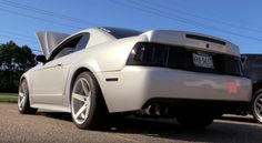 Check out this nicely modified 2001 Ford Mustang GT powered by liter Coyote engine with brutal voice! 2001 Ford Mustang, Ford Svt, Mustang Bullitt, Mustang Cobra, New Edge Mustang, American Muscle Cars, Mustangs, Hot Cars, Fox