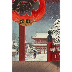 土屋光逸 (風光礼讃) - 浅草観世音 (1938)