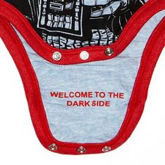 Darth Vader Babygrow - Star Wars - Fabric Flavours  THIS whenever im married and have a child THIS is what im putting on for my husband to see!
