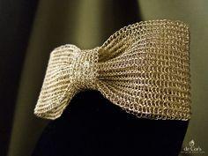Wire crochet bow.                                                       …