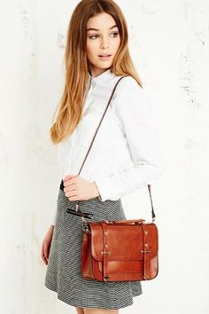 Reversible Satchel in Tan at Urban Outfitters