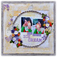 Bente Fagerberg for Papirdesign Scrapbooking Layouts, Scrapbook Pages, Italian Ice Cream, Paper, Frame, Blog, Crafts, Madness, Heaven