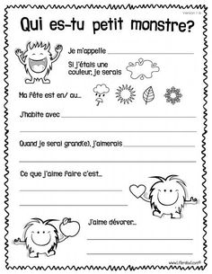 Printing Videos Projects Posts Way To Learn French Articles Back To School Activities, Writing Activities, Teaching French Immersion, French Practice, French Worksheets, French Resources, French Articles, French Education, Core French