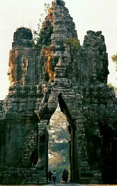 The gate of Angkor Thum Cambodia