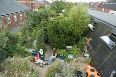 Rooftop forest garden in London