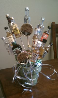 Boyfriend gift with just alcohol or dad gift with just the dip and cigars :)