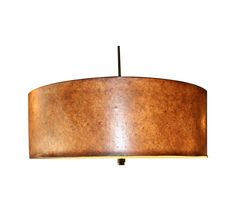 Add this modern fixture to your kitchen, entryway or dining room. It has great color with the natural cork over a hard back shade and frosted diffuser, and bronze ball ornament. This fixture hangs by its black fabric cord and has the matching bronze canopy and mounting hardware. It takes 3 medium base bulbs and is in excellent condition.    The seller has two of these available. If you are interested in purchasing the pair, please email: support@chairish.com.