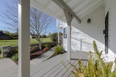 Porch entry with views to the Sonoma hills