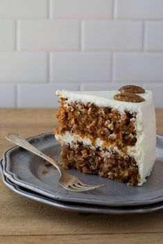 Carrot Cake With Pecans Coconut And Cream Cheese Frosting