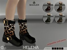 The Sims Resource: Madlen Helena Boots by MJ95 • Sims 4 Downloads