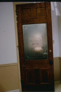 Door for closet pocket.