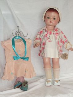 "Effanbee 19"" Patsy Ann Doll in HTF Factory Dress and Hang Tag- All Original 1929"