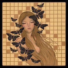 audrey kawasaki 3 1 650x648 First Look: Audrey Kawasakis Gorgeous Wood Panel Paintings