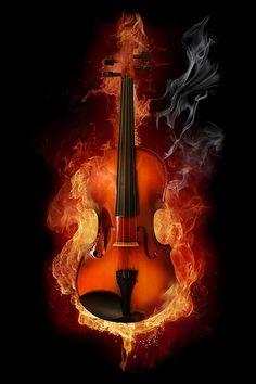 I set fire to the violin!! (like set fire to the rain by adele)