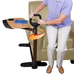 This would pair great with a medical alert device from www.alert-1.com.  It is common for seniors to become too weak in their legs to sit down and they fall.